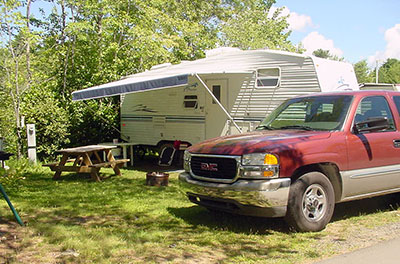Full Hook Up Maine Camping RV Site
