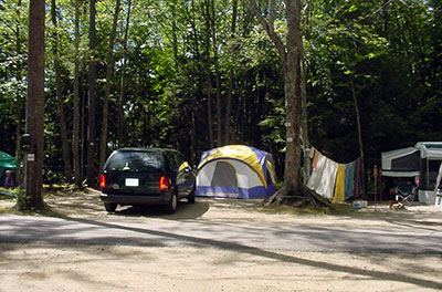 Old Orchard Beach Maine Campground Water and Electricity