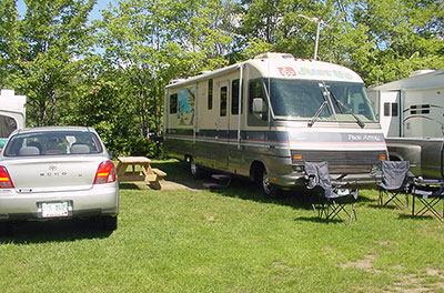 Full Hook Up Maine Camping Site